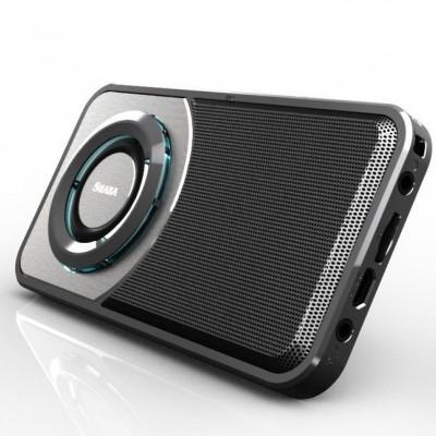 SHABA超薄灯光无线蓝牙音箱 车载蓝牙音箱 收音机插卡蓝牙小音响