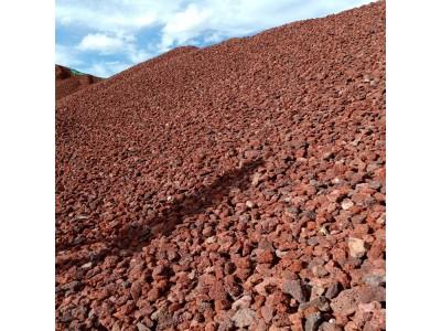 卓川厂家直销火山石,红色火山石,火山岩滤料
